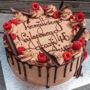 8″ Round Chocolate Drizzle Cake