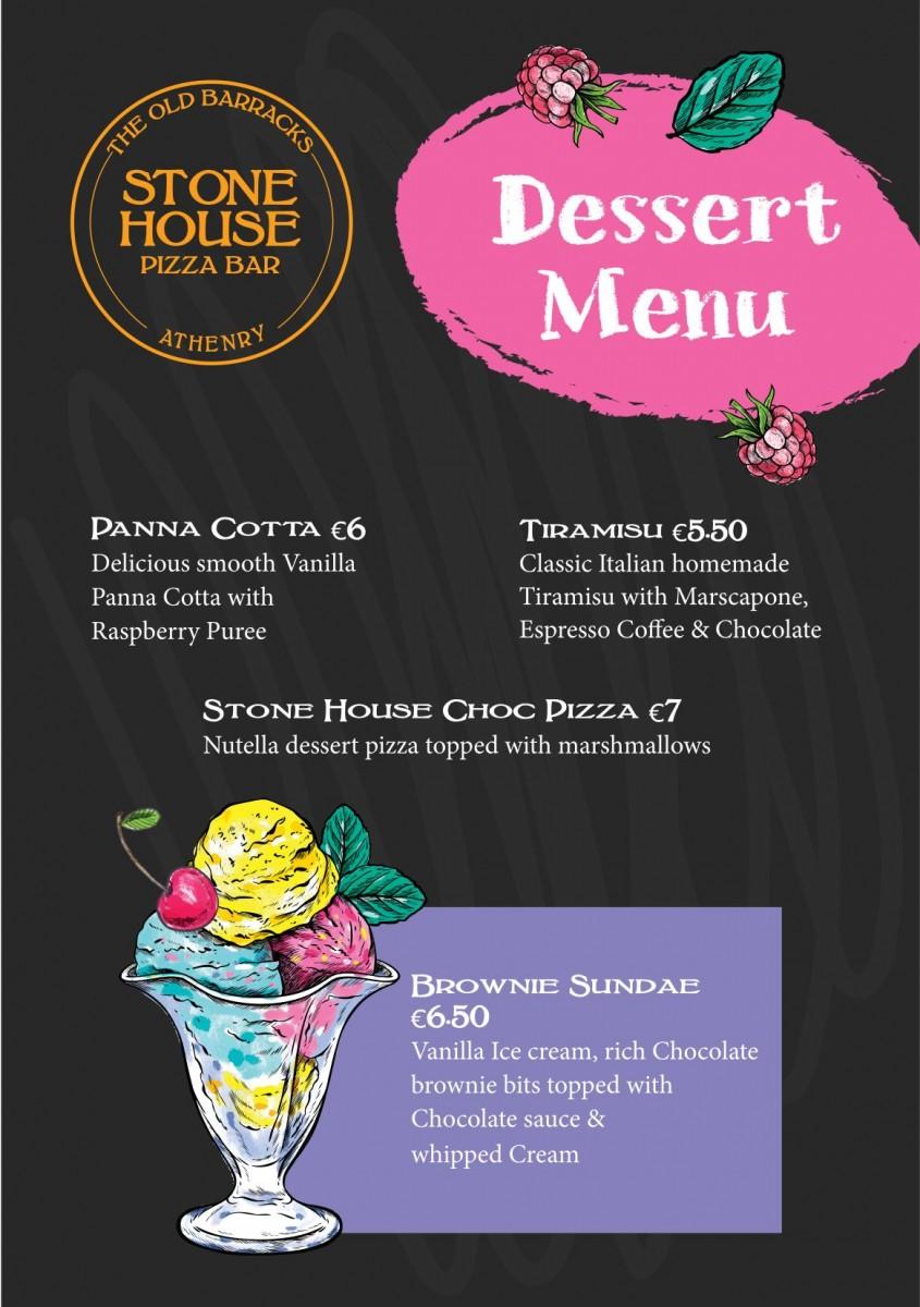 Dessert Menu A5
