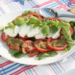 Old Barracks Basil & Mozzarella Salad