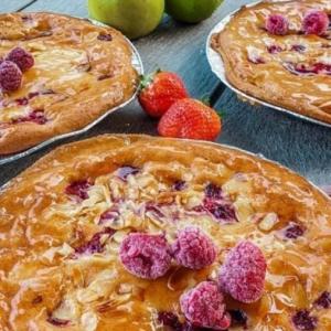 Raspberry & Almond Tart